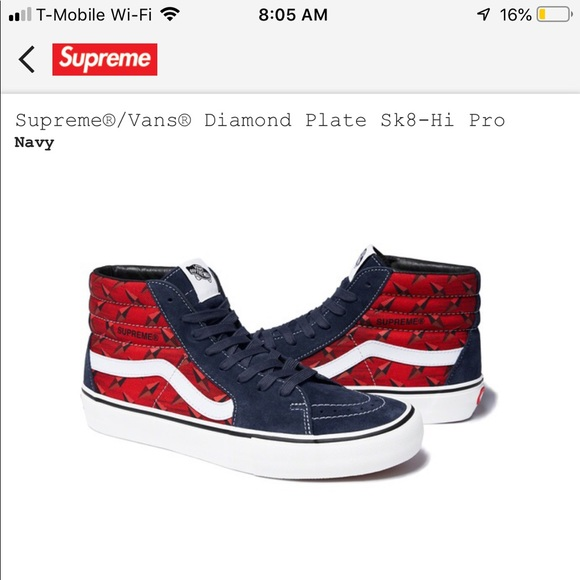 Supreme Shoes | Supreme X Vans Collab